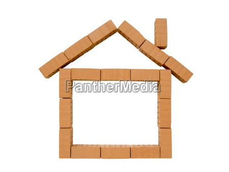 house mini brick with chimney