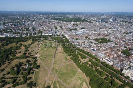 aerial view of hyde park and