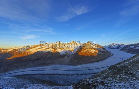 aletsch glacier and aletschhorn 4193m jungfrau