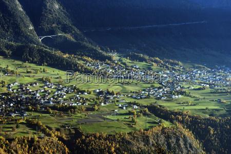 village of termen near brig valais