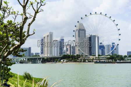 das singapore flyer riesenrad marina bay