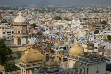 view across udaipur from the city