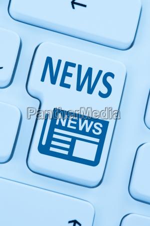 online zeitung nachrichten news computer blau