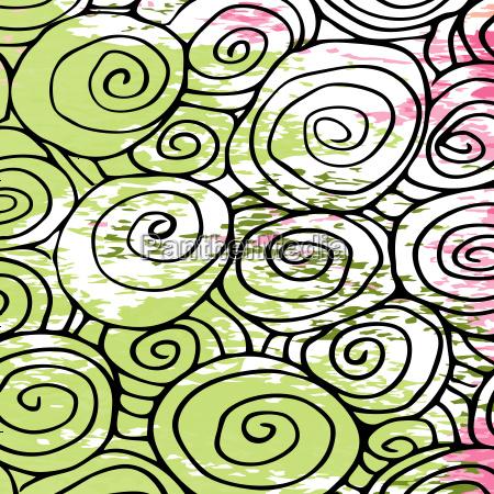 nahtlose welle handgezeichnete muster wellen abstrakten