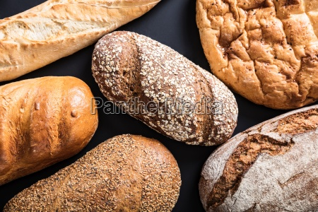 variety of freshly baked bread