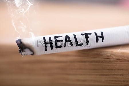 health risk on burning cigarette