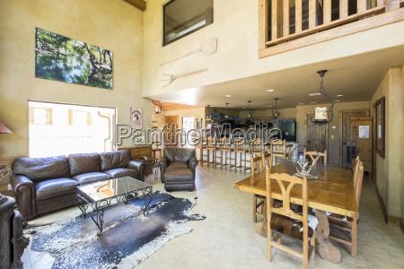 usa texas spacious farm house livingroom
