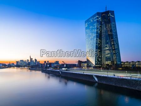 germany frankfurt european central bank and