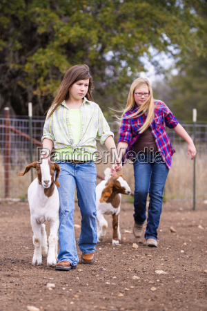 usa texas young girls walking with