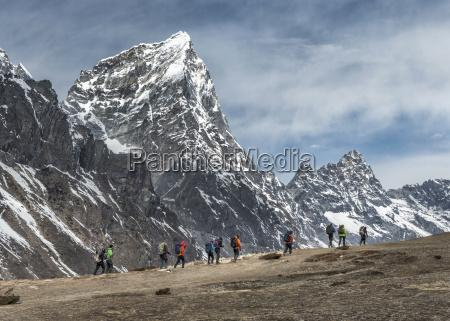 nepal himalayas khumbu everest region taboche