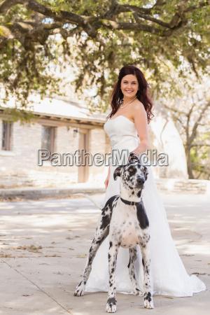 usa texas potrait of young bride