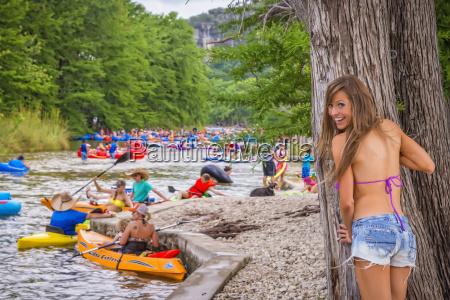 usa texas young woman in bikini