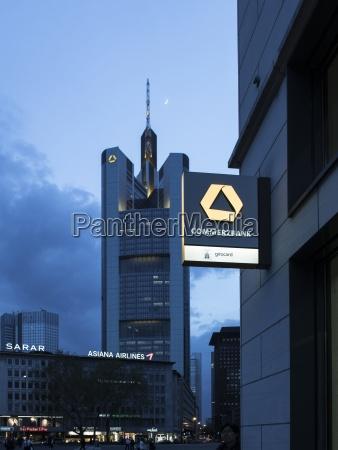 deutschland hessen frankfurt commerzbank am rossmarkt