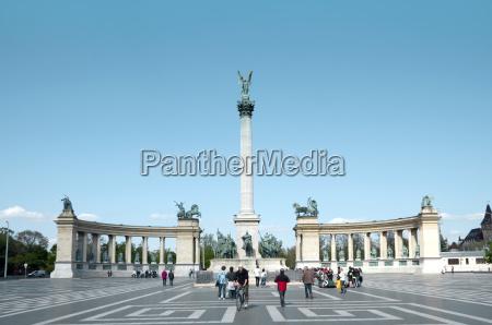 ungarn budapest ansicht des milleniums monuments