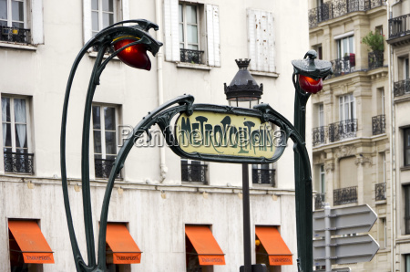 france paris art nouveau for metro
