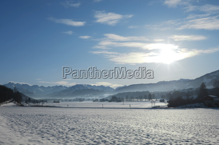germany bavaria view of mountains of