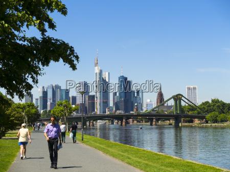 germany hesse frankfurt river main and