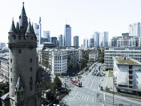 deutschland hessen frankfurt eschenheim tower finanzviertel