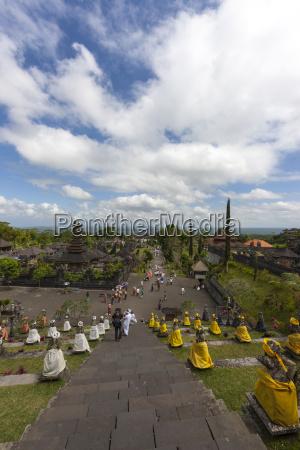 indonesia view of pagodas at pura