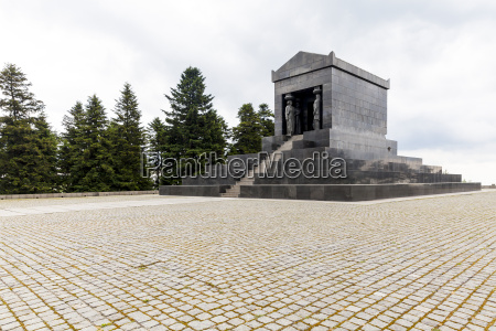 serbia beli potok view to monument
