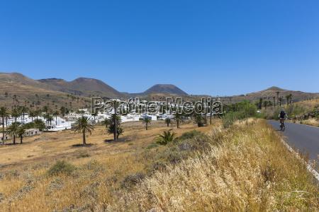 spain canary islands lanzarote maguez village