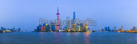 china shanghai panoramablick auf die skyline