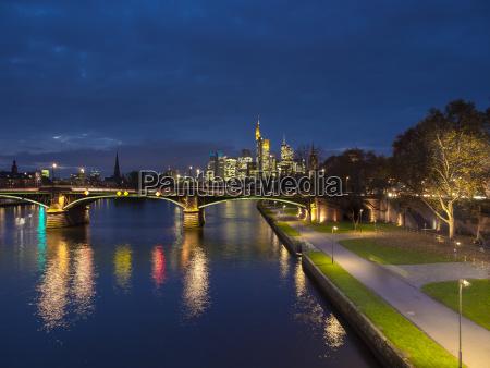 germany frankfurt river main with ignatz