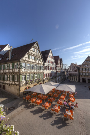 germany baden wuerttemberg view of marketplace