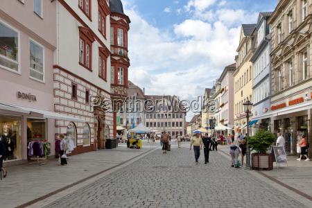 germany bavaria coburg people walking at