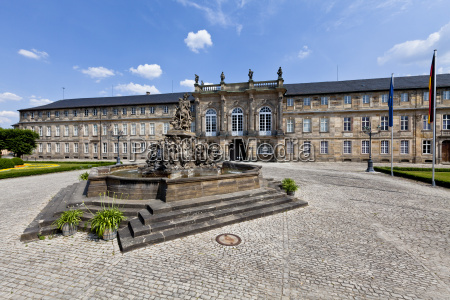 germany bavaria franconia markgravr fountain in