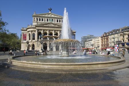 deutschland hessen frankfurt opernhaus am opernplatz