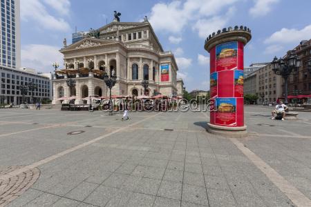 deutschland hessen frankfurt opernhaus