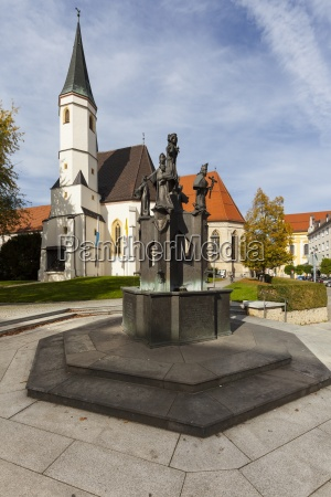 germany bavaria upper bavaria altoetting fountain