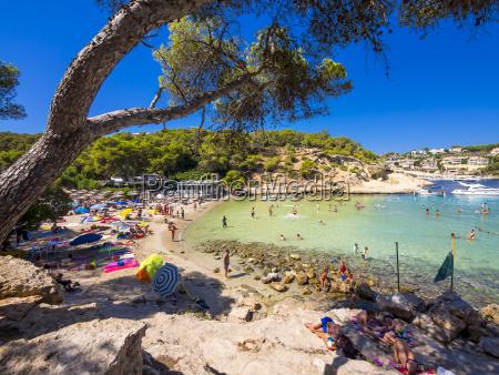 spain balearic islands mallorca view to