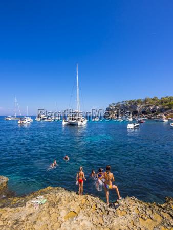 spain balearic islands mallorca bay of