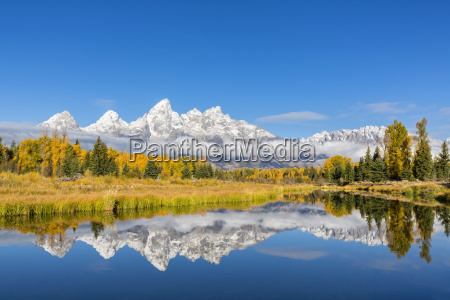usa wyoming grand teton nationalpark blick