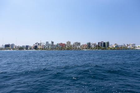 maldive veduta di male