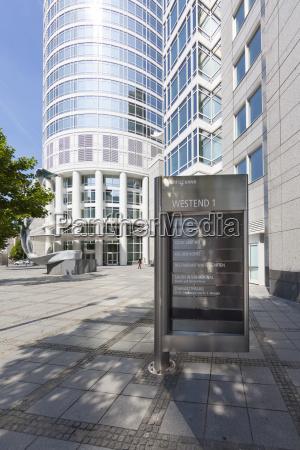 germany hesse frankfurt financial district westend