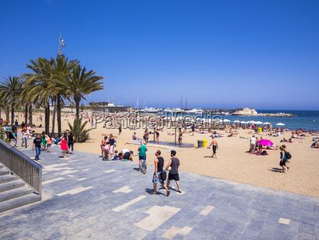 spain barcelona beach of san sebastia
