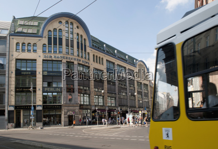germany berlin hackescher markt tram