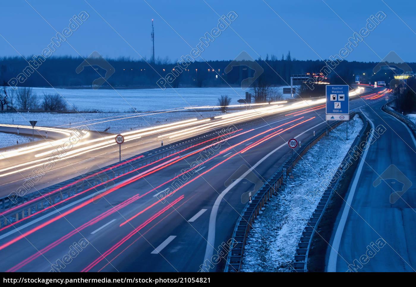 germany, , brandenburg, , view, of, traffic, on - 21054821