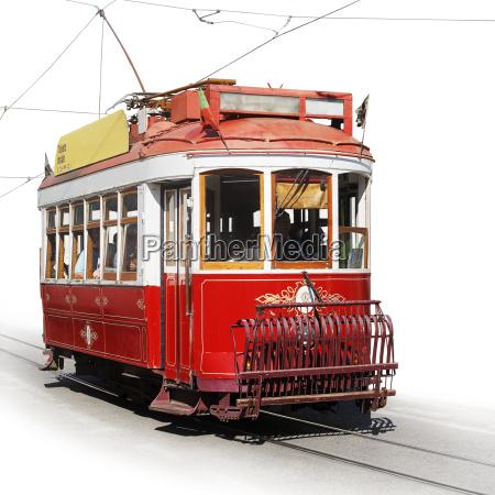 portugal lisboa historischer elektrik vor weissem