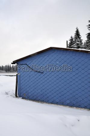 germany thurinigia oberhof blue hut in