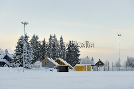 germany thurinigia oberhof sports field in