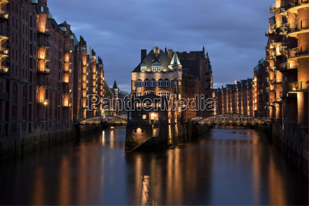 germany hamburg view of water castle
