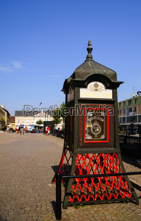 sweden smaland vimmerby historical telephone booth