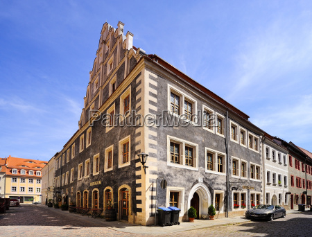 germany saxony pirna house with gable
