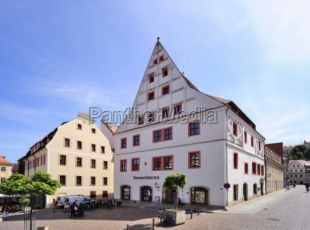 germany saxony pirna market square with