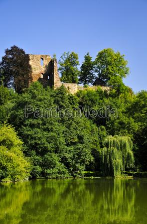 germany saxony tharandt ruin of castle
