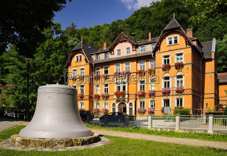 germany saxony tharandt bell and town